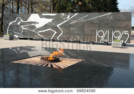 Eternal Flame And Created Memorial Complex In Honor Of Nizhny Novgorod Citizens Who Died In World Wa