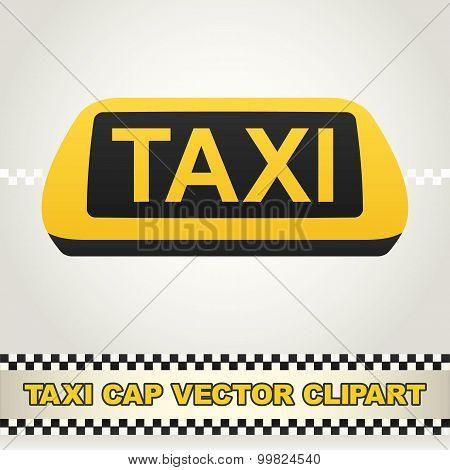 Taxi Cap Vector Clipart