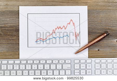 Line Graph Reflecting Wild Market Conditions On Desktop