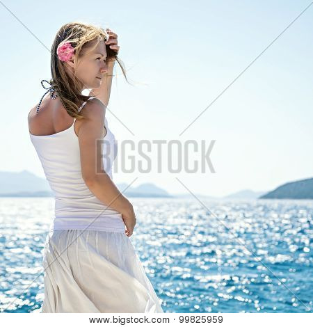 Woman at the sea