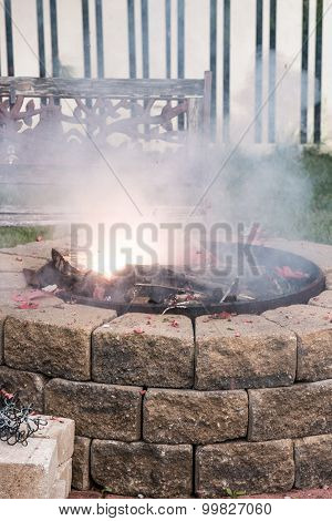 Fire Crackers in the fire pit