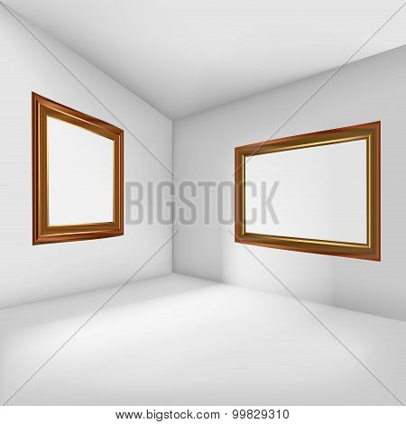 Empty Room With Picture Frames