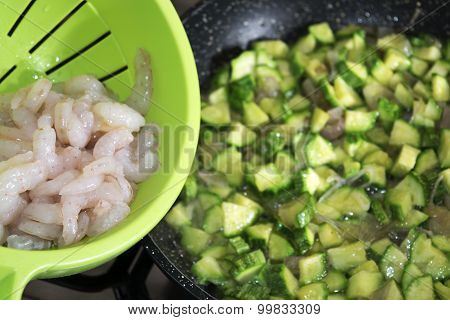 Little Shrimps And Courgettes
