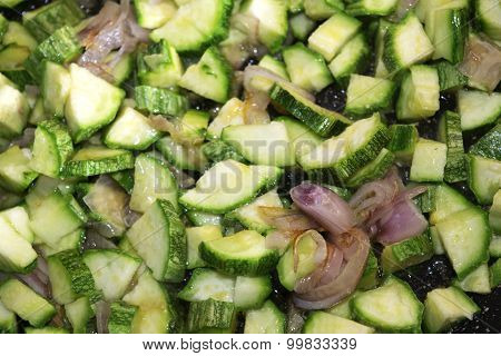 Chopped Courgettes