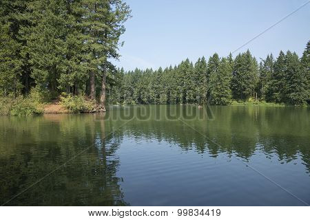 Man Made Lake Oasis In Washington State.