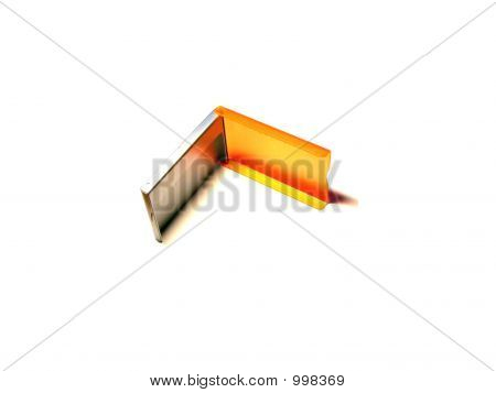 Orange And Silvery Box
