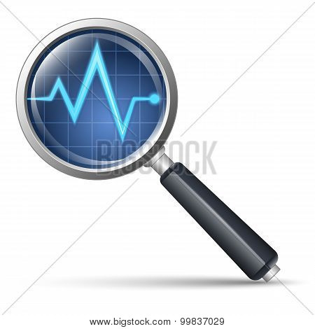 Diagnostic Icon. Vector Illustration