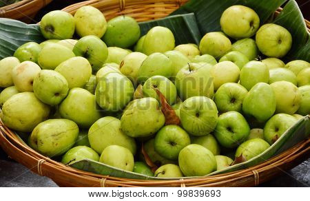 Indian jujube in bamboo basket