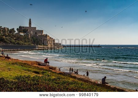 ISRAEL, OLD JAFFA, ST. PETER'S CHURCH - JULY 4,
