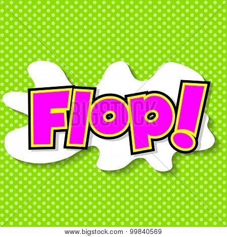 Plop! Comic Expression Vector Text