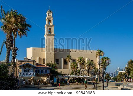 JAFFA, ISRAEL, ST. PETER'S CHURCH - AUGUST 10
