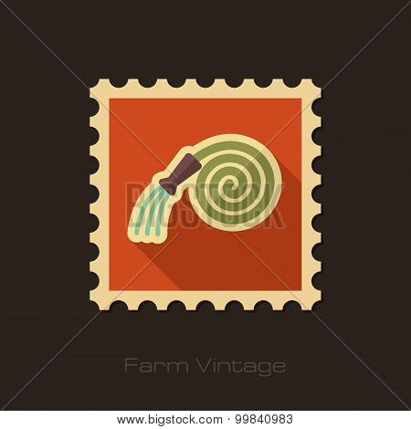 Garden Hose Retro Flat Stamp With Long Shadow