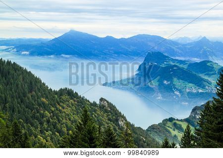 View From Mt. Pilatus, Lake Luzern, Switzerland