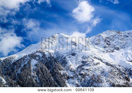 The Mount Blanc In Chamonix, France.