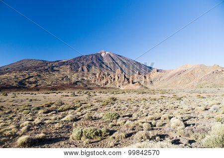 Volcano Teide And Garcia Rocks (los Roques De Garcia)