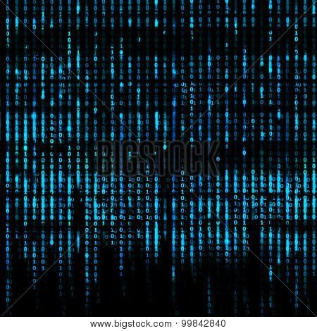 Matrix Abstract - binary code screen background