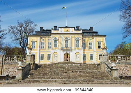Exterior of the baroque Steninge Palace (Steninge Manor) outside of Stockholm, Sweden.