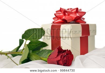 Present Box With Rose