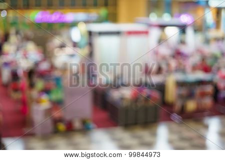 Blurred Image Of A Candy Store In Shopping Mall