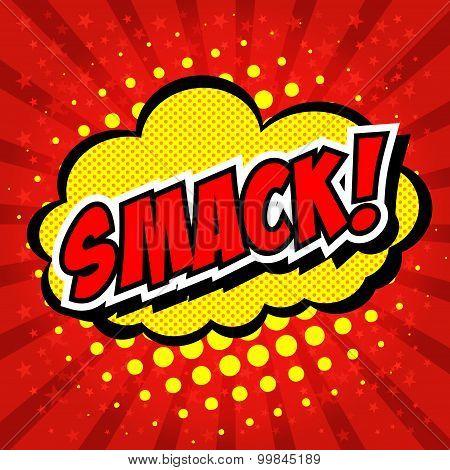 Smack! Comic Speech Bubble, Cartoon.