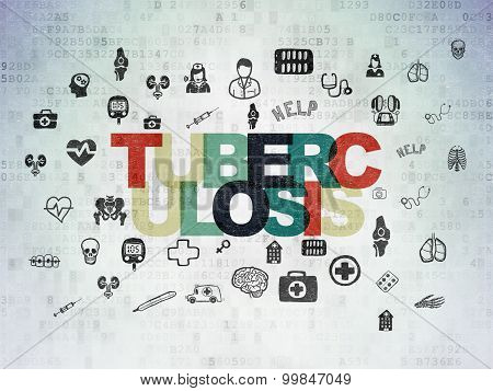Healthcare concept: Tuberculosis on Digital Paper background