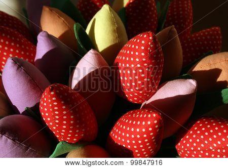 Handmade Flowers. Craftwork