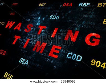 Time concept: Wasting Time on Digital background