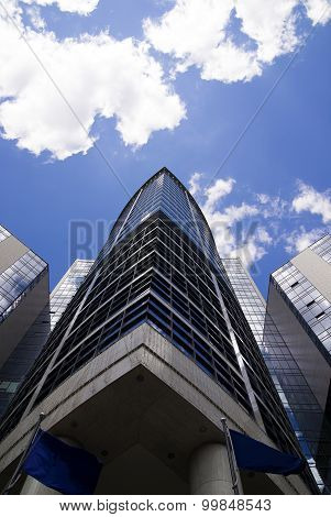 High Building On A Background Of Blue Sky