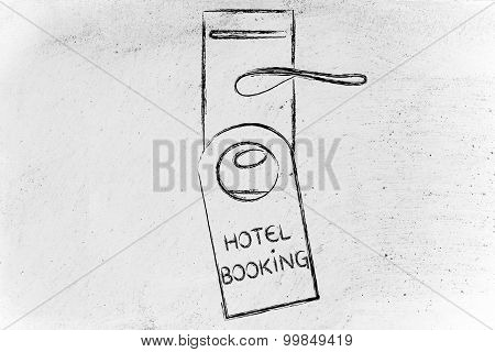 Booking The Perfect Hotel, Funny Door Hanger Design