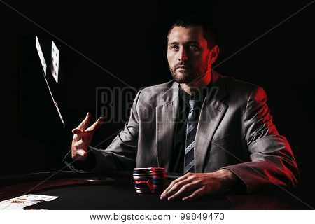 Emotional high stakes poker player