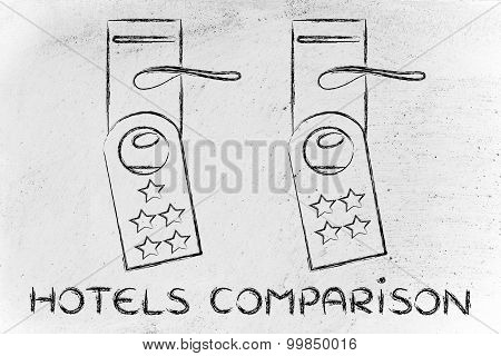 Comparing Hotel, Guest Feedback On Door Hangers