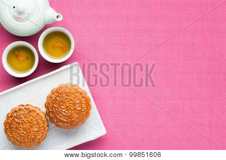 Save Download Preview Moon cake And Tea