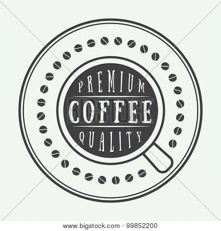 Vintage Coffee Logo, Label Or Emblem.