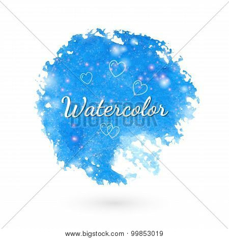 Watercolor style design elements