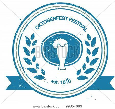 Vector Collection Of Oktoberfest Hand Drawn Logo Templates.