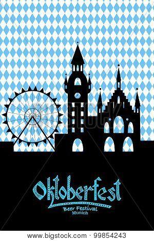 Vector Illustration Of Oktoberfest Card