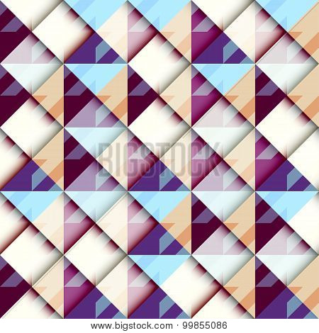 Houndstooth pattern on abstract geometric background.