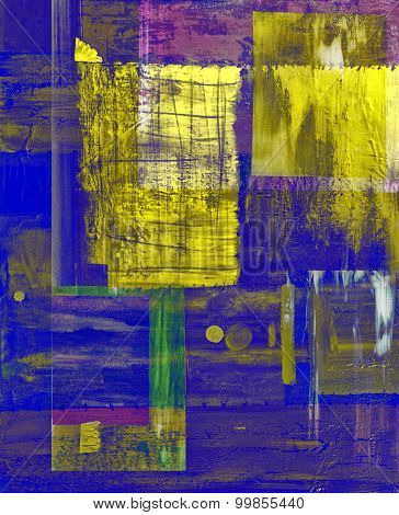 Nice Image of an original Abstract Painting On Glass