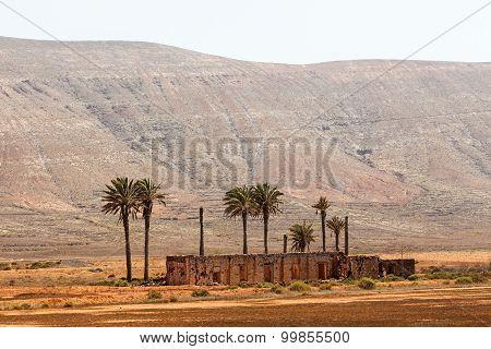 Old Colonial Buildings  Casa De Los Coroneles In La Oliva On Fuerteventura