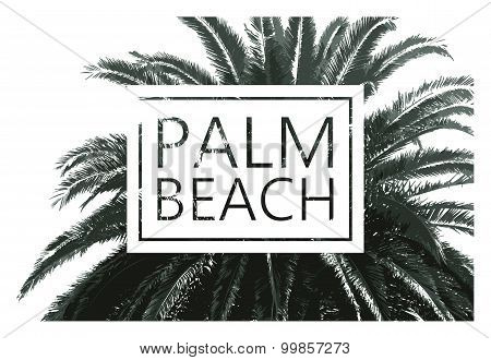 Vector palm tree print