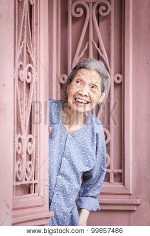 Senior vietnamese woman