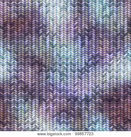 Knitted pattern with the melange effect.