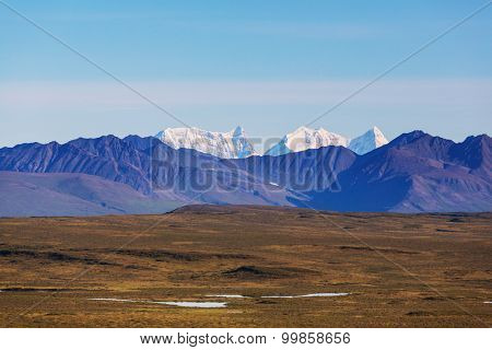 Landscapes on Denali highway.Alaska. Instagram filter.