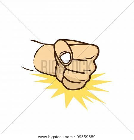 fist hand cartoon