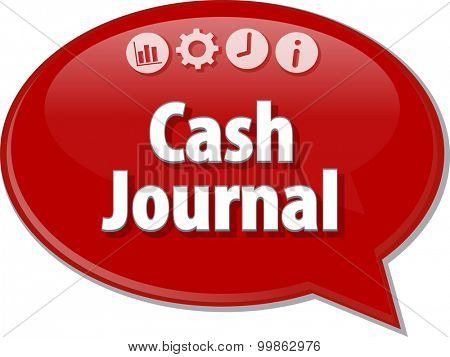 Blank business strategy concept infographic diagram illustration Cash Journal