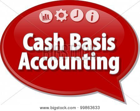 Blank business strategy concept infographic diagram illustration Cash Basis Accounting