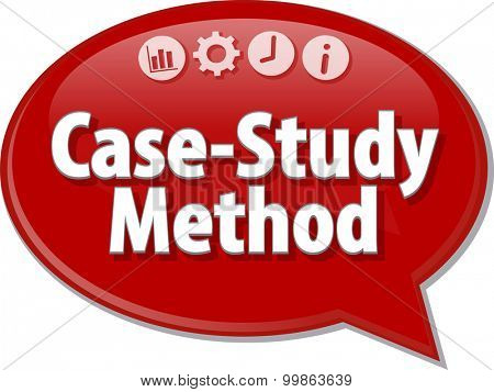 Blank business strategy concept infographic diagram illustration Case-Study Method