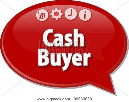 Blank business strategy concept infographic diagram illustration Cash Buyer