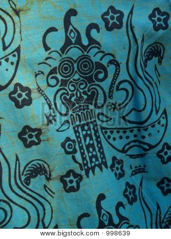 African Batik Print  Shirt Detail