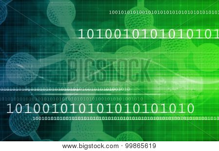 Medical Science and Futuristic Technology Concept Abstract